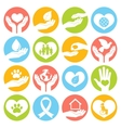 Charity and donation icons white vector image