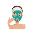 Female face with a mask vector image