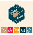 guitar house vector image vector image
