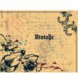 grunge vintage background vector image vector image
