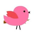 Pink cute bird vector image