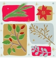 Christmas floral seamless background vector image