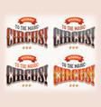 retro circus banners vector image