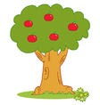 Apple Tree Covered With Red Apples vector image