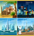 eastern touristic cityscapes vector image