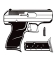 black and white 9mm vector image