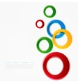 colorful circle vector image vector image