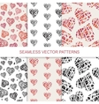 Set of seamless pattern with hand drawn vector image vector image