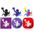 Water polo icon in three design vector image