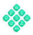 appliances consumer electronics line icons set vector image