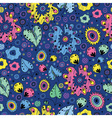 bright seamless pattern on a blue background vector image