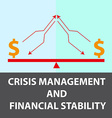 Crisis management background vector image