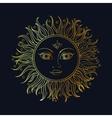 ethnic sun ornament vector image