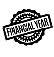 Financial Year rubber stamp vector image