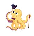 Funny cartoon octopus vector image
