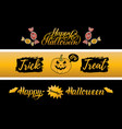 happy halloween cards set all saints eve vector image