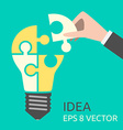 Missing puzzle for lightbulb vector image