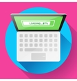 Open Laptop Top View Flat Icon vector image