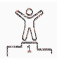 people shape winner pedestal icon vector image