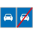 Road for car sign blue symbol Only car vector image
