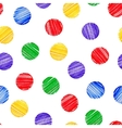 Seamless background Polka dot Marker brush vector image