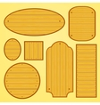 Set of different shapes wooden plates vector image