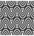 Design seamless monochrome checkered pattern vector image