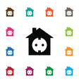 isolated socket icon edifice element can vector image