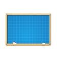 blueprint on school blackboard vector image