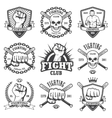 Set of cool fighting club emblems vector image