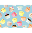 repeatable cupcake background vector image