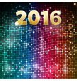 Mosaic party 2016 background vector image