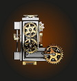 l letter with gears vector image