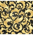 golden seamless wallpaper vector image vector image
