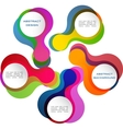 colorful abstract banner vector image vector image