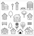 Set of home and exterior icons vector image