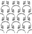 headphones notes seamless pattern vector image