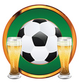 Beer and Soccer Ball6 vector image