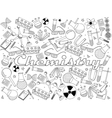 Chemistry coloring book vector image