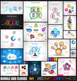 Collection of 20 Infographics with bubbles and vector image