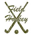 field hockey 05 vector image