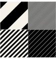 four diagonal patterns collection diagonal lines vector image