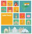 India Decorative Flat Icons vector image