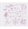 Mathematics - geometric shapes vector image