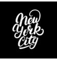 New York City hand written lettering vector image