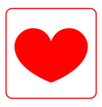 Red Heart icon vector image