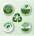 round banners collection for earth day vector image