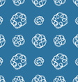 Hand drawn brush scribble flowers seamless pattern vector image
