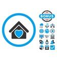 Hospice Flat Icon with Bonus vector image