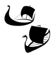 Viking ship icon Longship Isolated on white vector image